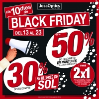 Ja ha començat el Black Friday a JOSA OPTICS